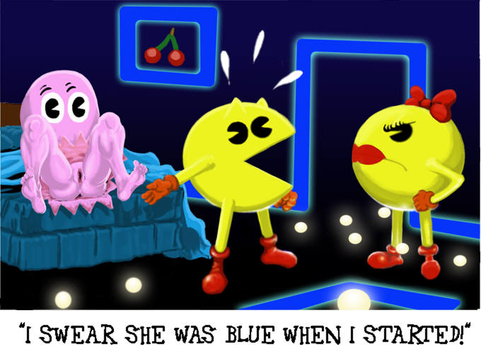 minus8 pac-man ghosts animation by Pokemon black and white porn comic