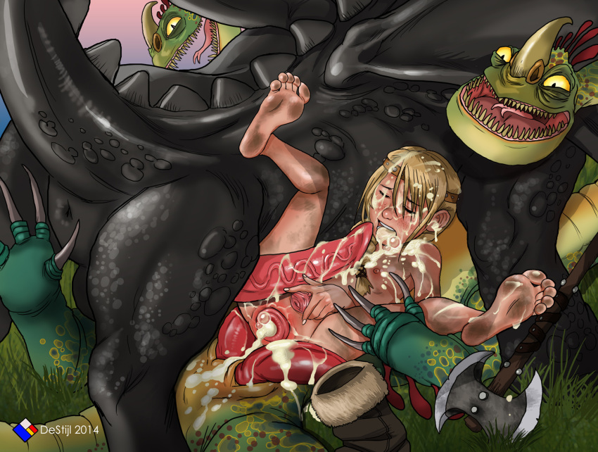 hiccup dragon how porn train astrid and to your Mass effect paheal