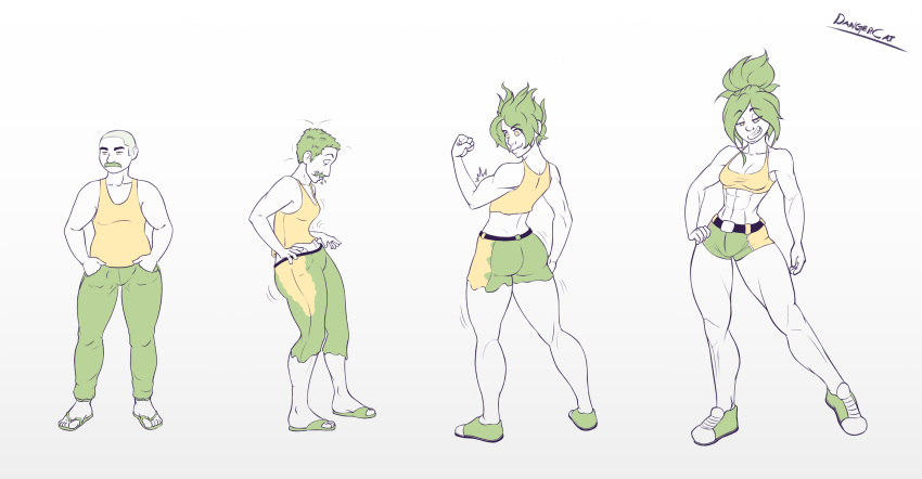 male to comic female transformation Pretty?cation the animation